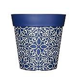 Blumentöpfe in unterschiedlichen Farben, bunte Pflanzgefäße, Blumentöpfe, Garten-Töpfe, 22cm, Kunststoff-Topf, plastik, Blue Lattice, 5 l
