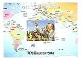 Gedenkbriefmarkenbogen das Leben von Nelson Mandela feiert. Eine Inspiration für die moderne Welt