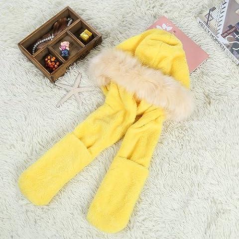 WJP sciarpa Hat guanti tre Kit pezzo coreano Onda a mano moda inverno cute calda lana lavorata a maglia cappelli insiemi W-488