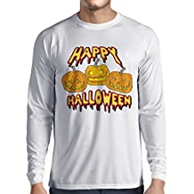 lepni.me Camiseta de Manga Larga para Hombre Happy Halloween! Party Outfits & Costume