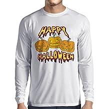 lepni.me Camiseta de Manga Larga para Hombre Happy Halloween! Party Outfits & Costume