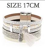 Daawqee Bracelets pour Femme, Women Bracelets Fashion Leather Bracelets Boho Charm...