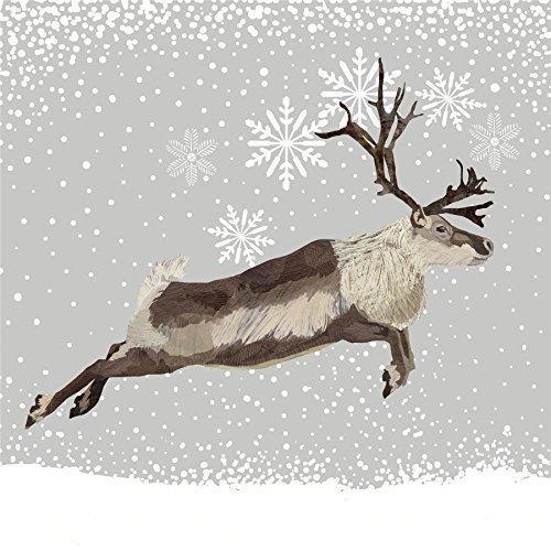 hiver sautant renne marron 3 épaisseurs 20 Papier Serviettes 13 \