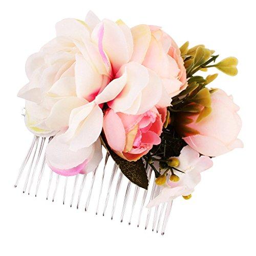 Homyl Hiippie Boho Blumen Haarnadeln Hochzeit Braut Brautjungfer Haarkamm Haarkämme Haarschmuck Haarpins Blumenhaarnadel Brautschmuck - Farbe D