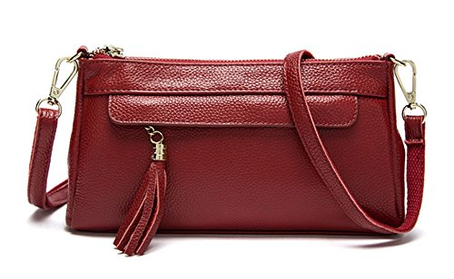Mme Simple D'embrayage En Cuir red