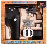 J.G.Schrödel Super 88 Junior: Super 88 Spielzeugpistole und Pistolengürtel, in Geschenkebox, Western-Set, schwarz (195 0149)