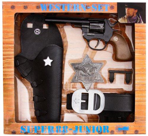 Bauer Spielwaren 1950149 Spielzeugpistole, schwarz (Cowboy-action-holster)