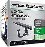 Rameder Komplettsatz, Anhängerkupplung abnehmbar + 13pol Elektrik für Skoda Octavia I Combi (112933-03560-1)