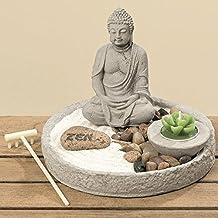 Jardín Zen Feng Shui 7pzi con Budda Rena Lumino 20cm–Tinas Collection