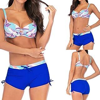 Womens Bikini Set,WSSB Women Plus Size Gradient Printed Bikini Swimsuit Swimwear Two Piece Tankini Women Swimsuit Beachwear Blue