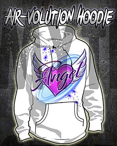 Mythic Airbrush Personalized Airbrushed Angel Wings Hoodie Kinder- / Erwachsen-Größen ()