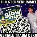 1000 Teile Set Leucht Sterne Sternenhimmel nachtleuchtende UV Sticker für Decke und Wand inklusive Sternkarte Deko Zauber Traum für Schlafzimmer, Kinderzimmer uvm... von UV stars bei Lampenhans.de