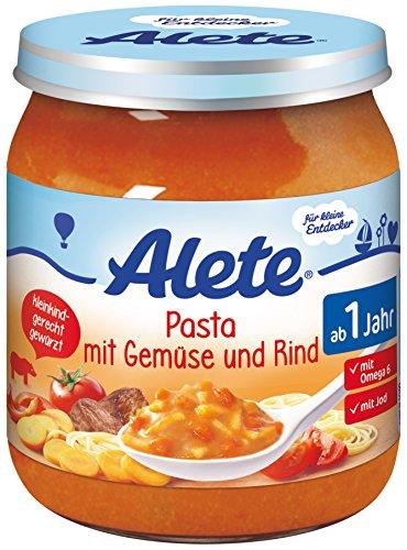 Alete Pasta mit Gemüse und Rind, 6er Pack (6 x 250 g)