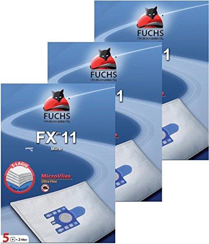 Volpe sacchetti per aspirapolvere Fxpro 113pacchetti 15sacchetti per aspirapolvere, 3filtri dell' aria, 3filtri motore per Miele Gatto E Cane