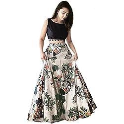 Shsarees Women's Crepe Silk Dress Material (Shs-108_Multi-Coloured_Free Size)