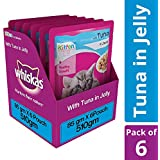 Whiskas Kitten Wet Cat Food, Tuna in Jelly, 85 g (Pack of 6)