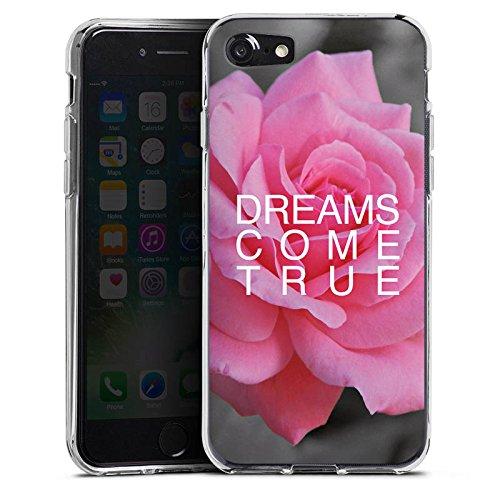 Apple iPhone X Silikon Hülle Case Schutzhülle Träume Blume Sprüche Silikon Case transparent