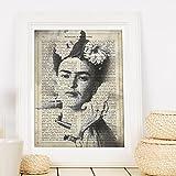 Frida Kahlo Rahmen mit der Definition von Kreativität. Plakat mit Bild von Frida Kahlo in Schwarzweiss in A3 Plakat des mythischen Malers Frida Kahlo. Definitionsblatt. Inneneinrichtung. Rahmen zum Rahmen. Papier 250 Gramm hohe Qualität. Dekorieren Sie Ihr Wohnzimmer, Schlafzimmer oder machen Sie das perfekte Geschenk.