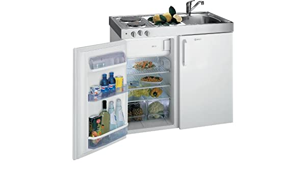 Miniküche Mit Kühlschrank Bauknecht : Bauknecht mkv mini küche weiß kochfelder abtauautomatik
