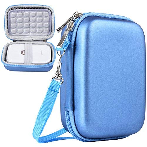 Katia Stoßfest Tasche/Tragetasche Lagerung Reisetasche für HP Sprocket Portable Fotodrucker/Polaroid Zip Mobile Drucker Schutzhülle Box (Blue)