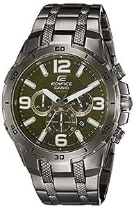 Casio Edifice Stopwatch Chronograph Green Dial Men's Watch - EFR-538BK-3AVUDF (EX180)