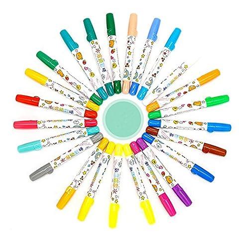Crayons pour enfants - Peut être lavé des bâtons de peinture à l'huile Non-toxiques Fournitures d'art pour étudiants en maternelle (12 couleur)