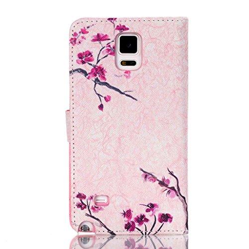 iPhone 5/5S Case se, w-pigcase coloré Exquise Étui en cuir PU avec joli design et confortable feelling pour iPhone 5/5S/5C/SE fleur