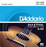 D'Addario EJ40 Set Corde Acustica Silk And Steel Folk