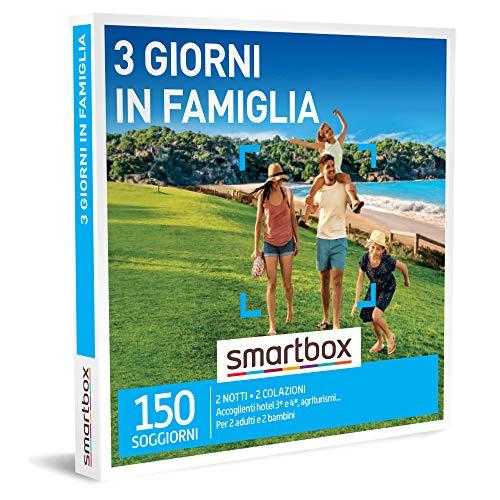 Smartbox - 3 giorni in famiglia cofanetto regalo soggiorni  2 notti con colazione per 2 adulti e 2 bambini