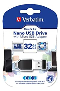 Verbatim Store n Go Clé USB et Micro USB 32 Go Noir