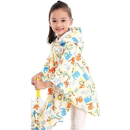FEIFEI Mode Kinder Regenmantel EVA Material Erfrischende Junge Umweltschutz Outdoor Girls Tragbare Winddicht Regensicher Sonnenschutz Reise Blau Gelb Rosa Beige ( Farbe : Gelb , größe : L )