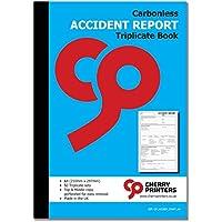 NCR - Cuaderno triplicado de accidentes (A4, 50 juegos, sin carbono)