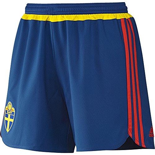 adidas Damen Fußball/Auswärts-Shorts Schweden Fußballshorts, Dmarin/Yellow/Borang, M (Frauen-fußball-shorts)