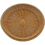 tansticolor redondo mimbre cestas para pan de almacenamiento (marrón, 40* 40* 8cm)