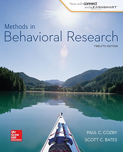 Methods in Behavioral Research (English Edition)