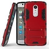 AyiHuan ZTE Axon 7 Mini Hülle ZTE Axon 7 Mini Schutzhülle, [Outdoor] [Fallschutz] [Dual Layer] Ultra-dünne Bumper Stoßfest Schutzhülle mit Ständer Case Cover für ZTE Axon 7 Mini 5,2 Zoll,Rot