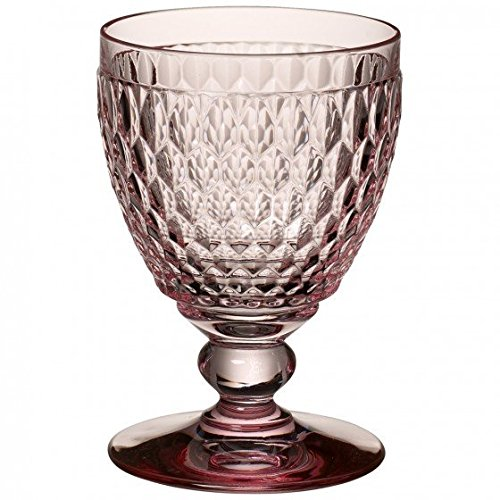 Villeroy & Boch Boston Coloured Verre à eau Rose, 400 ml, Cristal, Rose