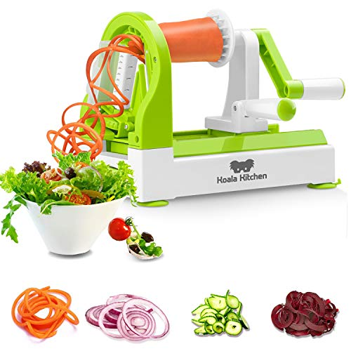 """Koala Kitchen""""SPIROALA"""" Spiralschneider - Zoodle Maker mit integrierten Klingen und Saugfüßen - Für perfekte Zoodels oder Gemüsenudeln"""