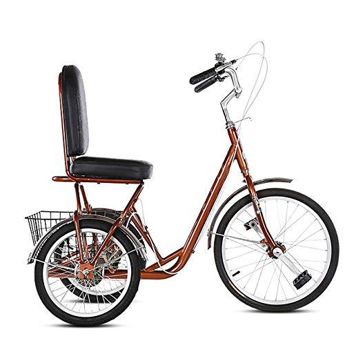 WuZhong W Automobile di Esercitazione dell\'automobile Sportiva del Piede della Forza dell\'anziano del Passo della Forza della Bicicletta anziana della Bicicletta a Tre Ruote della Bicicletta
