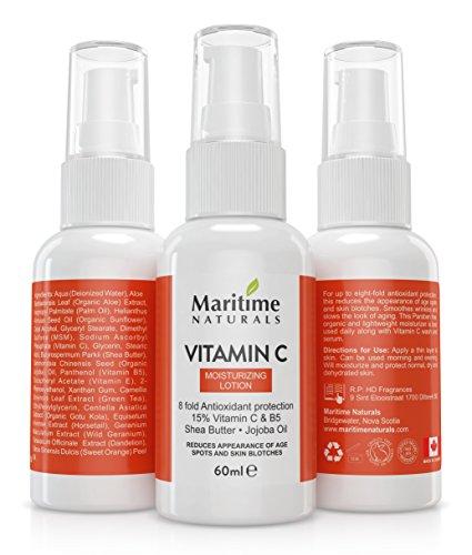 Loción Hidratante con vitamina C, de Maritime Naturals