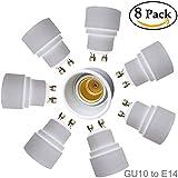 eleidgs 8pieza adaptador de casquillo GU10a E14para LED Lámpara de proyección de adaptador de capacidad Socket convertidor