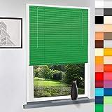 SUNWORLD Aluminium Jalousie nach Maß, hochqualitative Wertarbeit, alle Größen verfügbar, Maßanfertigung, für Fenster und Türen, Decken und Wandmontage (Grün, Höhe: 130cm x Breite: 50cm)