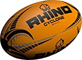 Only Sports Gear Rhino Cyclone Ballon de Rugby Orange Fluo Taille 3