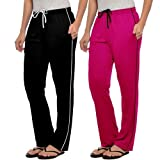 #6: Angel Soft Black and Pink Colour Pocket Women Lower - Free Size