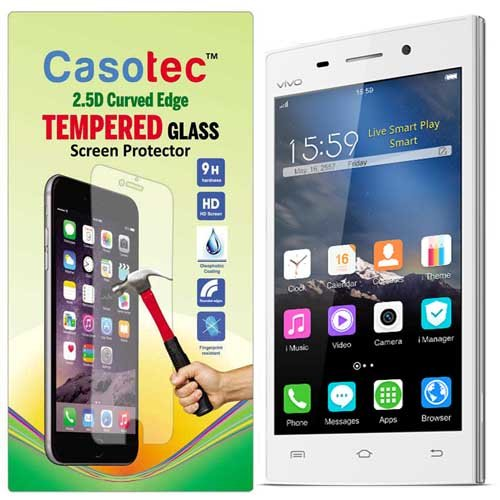 Casotec 2.5D Curved Edge Tempered Glass Screen Protector for Vivo Y15