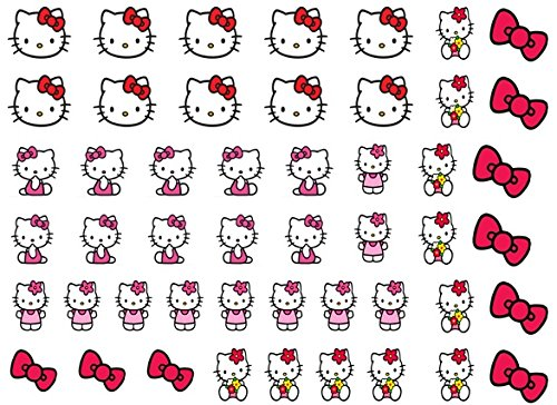 Stickers pour nail art Hello Kitty 1 cm Code 2