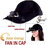 VOLTAC` ™ Solar Power Air Fan Hat Peak Cap Sunhat for Outdoor Camping / Hiking / Cycling (Multi color) Pattern #125405