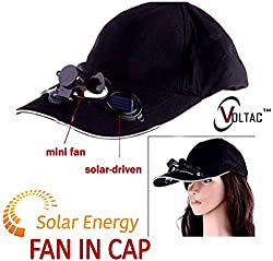 VOLTAC Solar Power Air Fan Hat Peak Cap Sunhat for Outdoor Camping / Hiking / Cycling (Multi color) Pattern 130434
