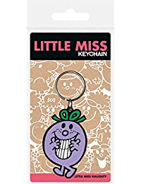 Pyramid International Little Miss Little Miss Naughty Rubber Keychain, Multi-Colour, 4.5 x 6 cm