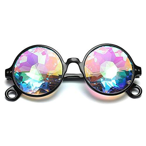 F.lashes Damen Kaleidoskop Brille Rave Festival Party Schmuck Sonnenbrille Linse Glasses